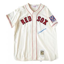 Ted Williams Signed Mitchell  Ness Boston Red Sox Jersey (Beckett LOA)