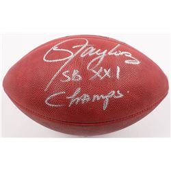"""Lawrence Taylor Signed Official Super Bowl XXI Game Ball Inscribed """"SB XXI Champs"""" (Radtke COA  Tayl"""