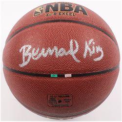Bernard King Signed NBA Logo Basketball (JSA COA  Radtke COA)