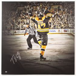 Torey Krug Signed Boston Bruins 39x39 Stretched Canvas Display (Krug COA)