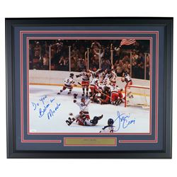 Jim Craig Signed Team USA 22x27 Custom Framed Photo Display Inscribed  Do You Believe in Miracles  (