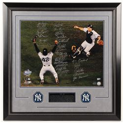 LE 1998 New York Yankees 27x27 Custom Framed Photo Display Team-Signed by (25) with Mariano Rivera,