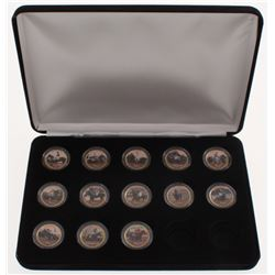 Lot of (13) Triple Crown Winners Colorized Gold Plated Statehood Quarters