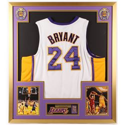 Kobe Bryant Los Angeles Lakers 32x36 Custom Framed Jersey with Championship Pin