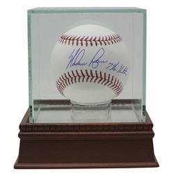 "Nolan Ryan Signed OML Baseball with High-Quality Display Case Inscribed ""7 No Hitters"" (JSA COA  Rya"