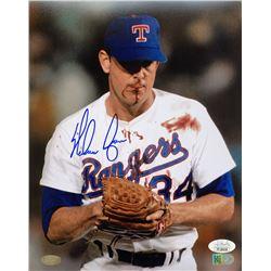 Nolan Ryan Signed Texas Rangers 8x10 Photo (JSA COA  Ryan Hologram)
