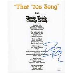 "Robin Zander Signed ""That 70s Song"" 8x10 Photo (JSA COA)"
