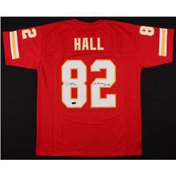 """Dante Hall Signed Jersey Inscribed """"OG Human Joystick"""" (Radtke COA)"""