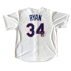 Nolan Ryan Signed Texas Rangers Majestic Jersey (JSA COA  Ryan Hologram)