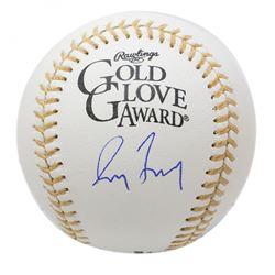 Greg Maddux Signed Gold Glove Award Baseball (JSA COA)