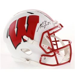 "Melvin Gordon Signed Wisconsin Badgers Full-Size Speed Helmet Inscribed ""Flash Gordon"" (Radtke COA)"