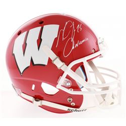 "Melvin Gordon Signed Wisconsin Badgers Full-Size Helmet Inscribed ""On Wisconsin"" (Radtke COA)"