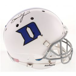 Daniel Jones Signed Duke Blue Devils Full-Size Helmet (Radtke Hologram)