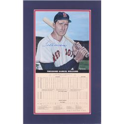 Ted Williams Signed LE Boston Red Sox 14x22 Custom Matted Print Display with Career Stat Card (Becke