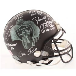 "Oakland Raiders ""Greats"" Full-Size Authentic Matte Black On-Field Helmet Signed By (21) With Jim Ott"