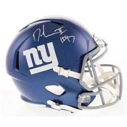 Dexter Lawrence Signed New York Giants Full-Size Speed Helmet (Radtke COA)