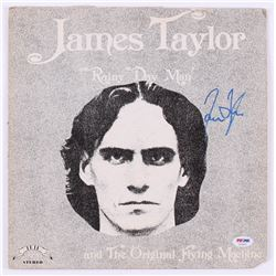 "James Taylor Signed ""Rainy Day Man"" Vinyl Record Album (PSA COA)"