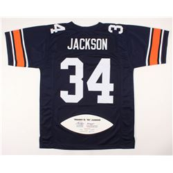 "Bo Jackson Signed Limited Edition Jersey with Career Stat Football Panel Inscribed ""Heisman 85"" (JSA"