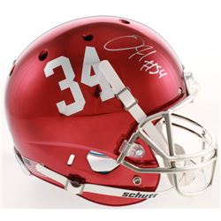 Damien Harris Signed Alabama Crimson Tide Full-Size Chrome Helmet (Radtke COA)