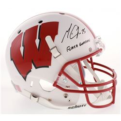 "Melvin Gordon Signed Wisconsin Badgers Full-Size Helmet Inscribed ""Flash Gordon"" (Radtke COA)"