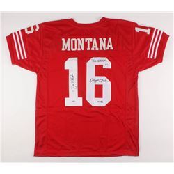"Joe Montana  Dwight Clark Signed Jersey Inscribed ""The Catch""  ""1.10.82"" (Beckett  PSA COA)"