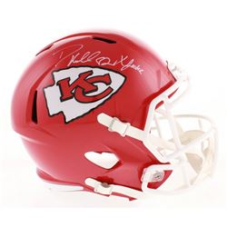 "Dante Hall Signed Kansas City Chiefs Full-Size Speed Helmet Inscribed ""X Factor"" (Radtke COA)"