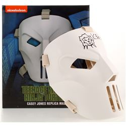 "Kevin Eastman Signed TMNT ""Casey Jones"" Authentic NECA Full-Size Mask with Hand-Drawn Casey Jones Sk"