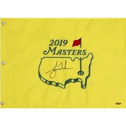 Tiger Woods Signed 2019 Masters Golf Pin Flag (UDA COA)