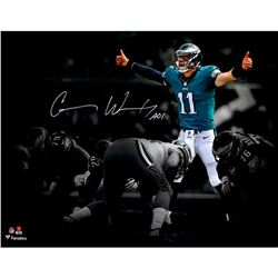 "Carson Wentz Signed Philadelphia Eagles 11x14 Photo Inscribed ""AO1"" (Fanatics Hologram)"