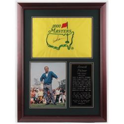 Arnold Palmer Signed 2000 Masters 25x33.5 Custom Framed Golf Pin Flag Display (JSA ALOA)