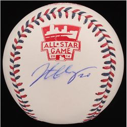 Jonathan Lucroy Signed Official 2014 All-Star Game Baseball (Radtke COA  Lucroy Hologram)