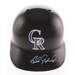 Andres Galarraga Signed Colorado Rockies Authentic Full-Size Batting Helmet (Radtke COA)