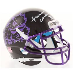L. J. Collier Signed TCU Horned Frogs Mini Helmet (Radtke COA)