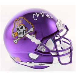 Chris Johnson Signed East Carolina Pirates Chrome Mini Helmet (Radtke COA)