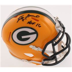 "Brett Favre Signed Green Bay Packers Speed Mini-Helmet Inscribed ""HOF 16"" (Radtke COA)"