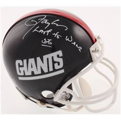 "Lawrence Taylor Signed New York Giants Throwback Mini-Helmet Inscribed ""Last to Wear 56"" (JSA COA)"