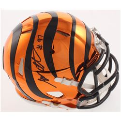 Geno Atkins Signed Cincinnati Bengals Chrome Speed Mini-Helmet (Radtke COA)