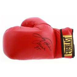"Larry Holmes Signed Everlast Boxing Glove Inscribed ""Palace 95"" (JSA COA)"