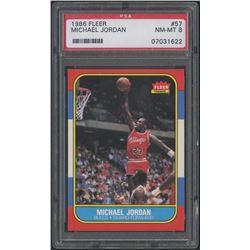 1986-87 Fleer #57 Michael Jordan RC (PSA 8)