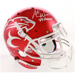 """Andre Ware Signed Houston Cougars Authentic On-Field Full-Size Chrome Helmet Inscribed """"89 Heisman"""""""