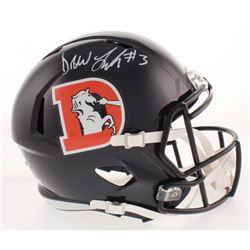 Drew Lock Signed Denver Broncos Color Rush Full-Size Speed Helmet (Radtke COA)