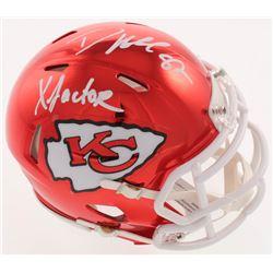 "Dante Hall Signed Kansas City Chiefs Chrome Speed Mini Helmet Inscribed ""X Factor"" (Radtke COA)"