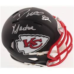 "Dante Hall Signed Kansas City Chiefs Matte Black Speed Mini Helmet Inscribed ""X Factor"" (Radtke COA)"