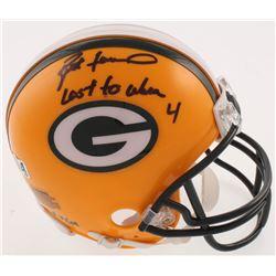 """Brett Favre Signed LE Green Bay Packers Mini Helmet Inscribed """"Last to Wear 4"""" (Radtke COA)"""