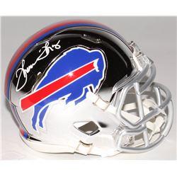 Thurman Thomas Signed Buffalo Bills Chrome Speed Mini Helmet (Radtke COA)