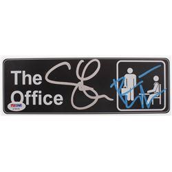 """Rainn Wilson  Steve Carell Signed """"The Office"""" Replica Door Sign (PSA Hologram)"""