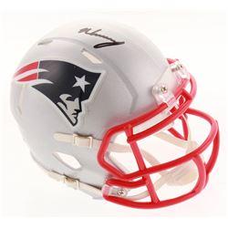 N'Keal Harry Signed New England Patriots Speed Mini-Helmet (Radtke COA)