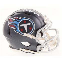 Chris Johnson Signed Tennessee Titans Speed Mini Helmet (Radtke COA)