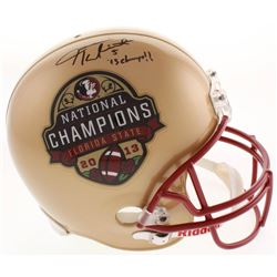 "Jameis Winston Signed Florida State Seminoles Full-Size Helmet Inscribed ""'13 Champs!!"" (JSA LOA)"