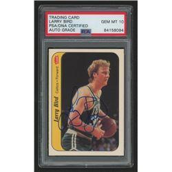 Larry Bird Signed 1986-87 Fleer Stickers #2 (PSA Encapsulated)
